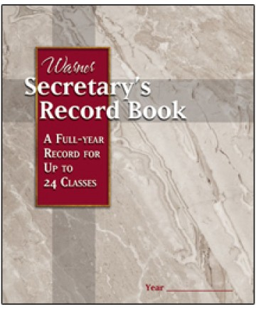 Secretary's Record Book