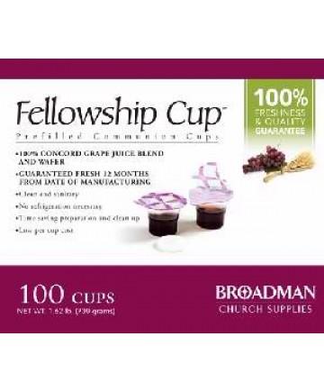 Communion-Fellowship Cup Prefilled Juice/Wafer-Box/100 (Pkg-100)