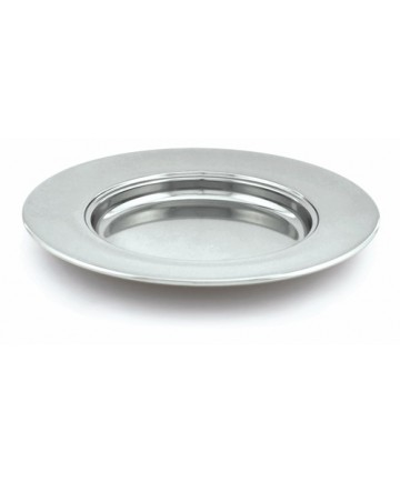 Polished Aluminum Bread Plate