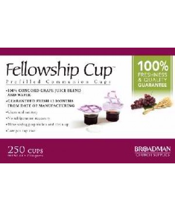 Communion-Fellowship Cup Prefilled Juice/Wafer-Box/250 (Pkg-250)