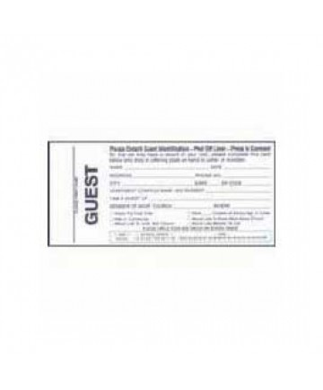 Guest Card-w/Name Tag (Pkg-100)