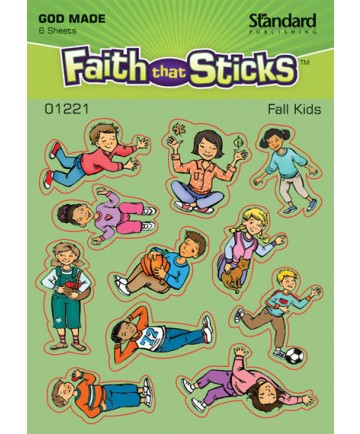 Fall Kids Sticker