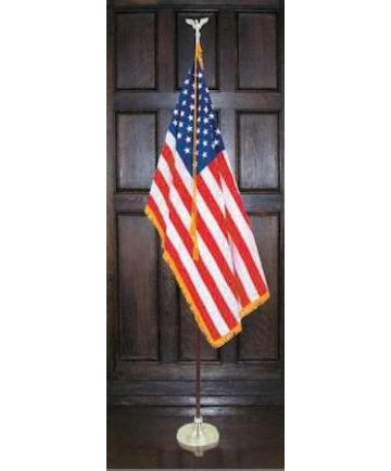 American-Indoor-3x5 Flag+8 Ft Pole