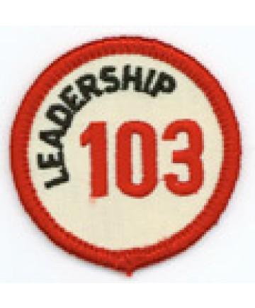 Leadership 103 Merit Patch (Red)