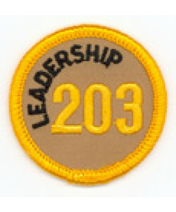 Leadership 203 Merit Patch (Gold)