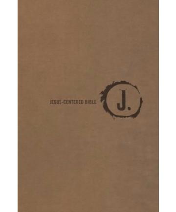 Jesus-Centered/NLT/Saddle Imitation Leather