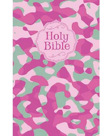 NKJV Camouflage Bible-Pink Camo Softcover