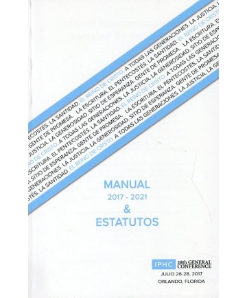 Iglesia Internacional de Santidad Pentecostal Manual & Estatutos 2017-2021