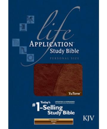 Life Application Study Bible KJV, Personal Size, Brown/Tan
