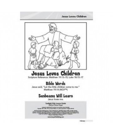 Sunlight Kids Lesson Guide: Jesus Loves Children