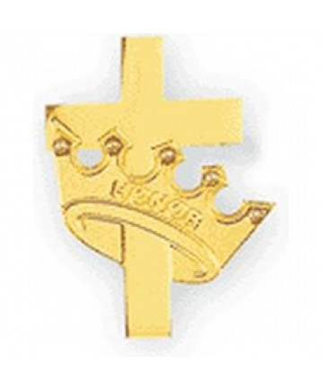 Honor Sponsor Pin/Crown with Cross