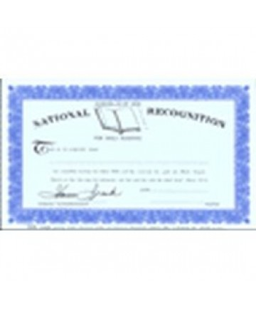 Bible Reading Certificate