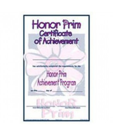 Prims Honor Certificate