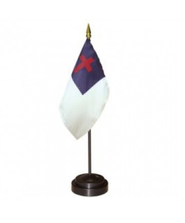 Christian Flag for desk set
