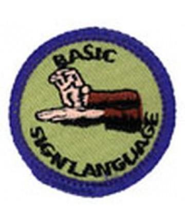Blue Merits/Basic Sign Language