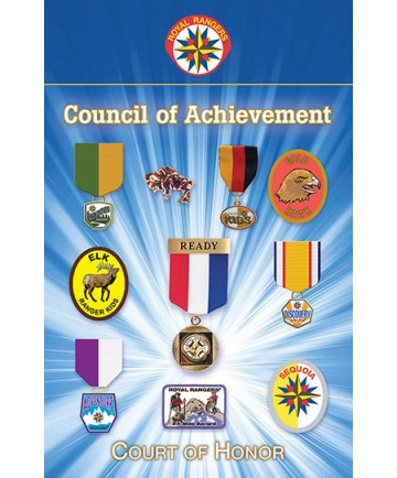Royal Rangers Council of Achievement Bulletins (pack of 25)