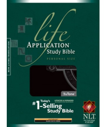 Life Application Study Bible NLT, Personal Size, Black (Celtic Cross Edition)