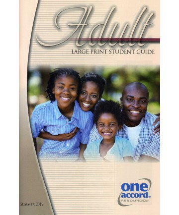 Adult Large Print Student Guide / Summer
