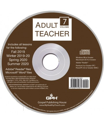 Adult Teacher Volume 7 CD-ROM 2019-2020
