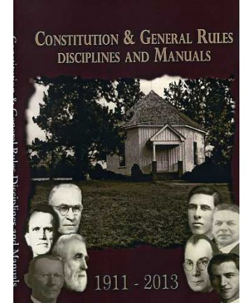 Constitutions, Disciplines and Manuals CD