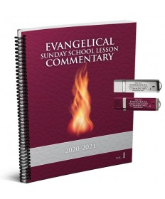 Evangelical SS Large Print Commentary Combo 3: Microsoft Word & PowerPoint USB 2020-21
