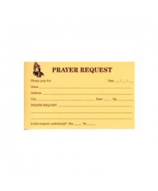 Prayer Request Cards /pk 100