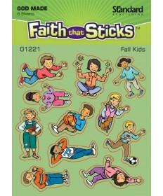 Fall Kids Sticker