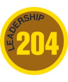 Leadership 204 Merit Patch (Gold)