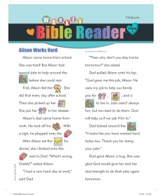 Weekly Bible Reader (take-home paper) / Fall