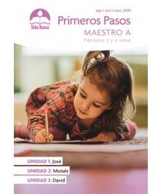 Párvulos: Primeros Pasos -Incluye Guía del Maestro y Visuales Septiembre - Febrero Edades 2 - 4