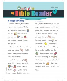 Weekly Bible Reader (take-home paper)  / Winter