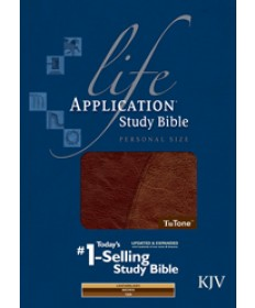 Life Application Study Bible KJV, Personal Size, Brown/Tan