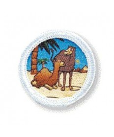 Rainbows Unit Badges. Camel