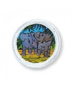 Rainbows Unit Badges. Elephants