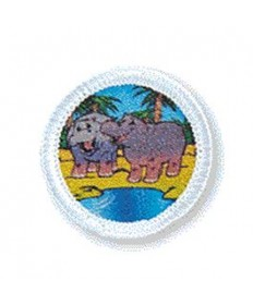 Rainbows Unit Badges. Hippo