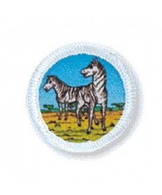 Rainbows Unit Badges. Zebras