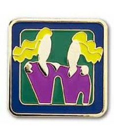 Girls Only Club Unit Pins. Friendship Factor