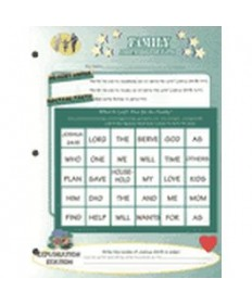 Stars Unit Activity Pages. Family