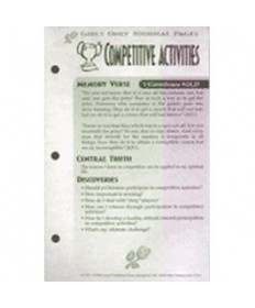 Girls Only Journal Page Units. Competitive Activities