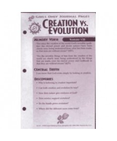 Girls Only Journal Page Units. Creation vs. Evolution