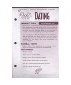 Girls Only Journal Page Units. Dating