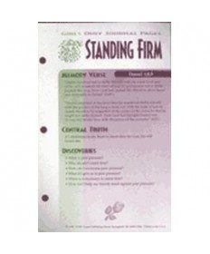 Girls Only Journal Page Units. Standing Firm