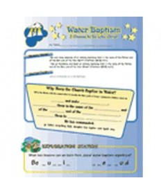 Stars Unit Activity Pages. Water Baptism