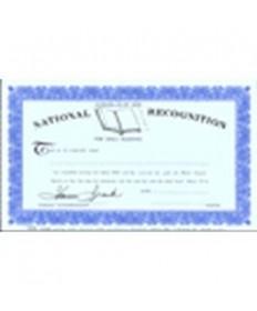 Bible Reading Certificate