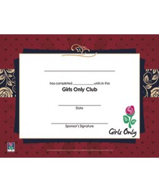 Girls Only Certificate of Completion - pkg/10