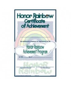 Rainbows Honor Certificate