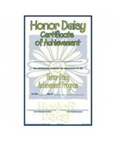 Daisies Honor Certificate