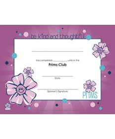 Prims Certificate of Completion - pkg/10