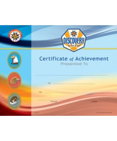 Discovery Rangers Certificate of Achievement pkg/10