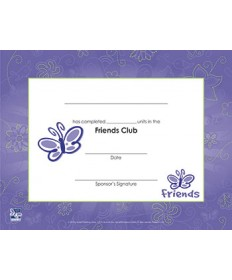 Friends Certificate of Completion - pkg/10